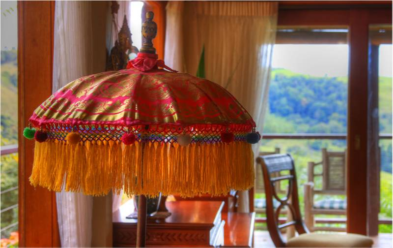 The Bali Lamp in the Dining Room
